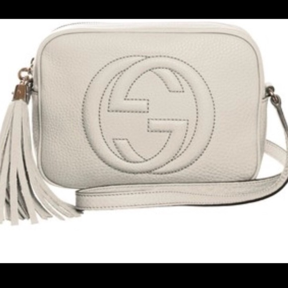 Gucci Handbags - Authentic White Gucci Soho Leather Disco Bag